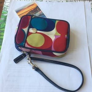 Coach small wrist pouch